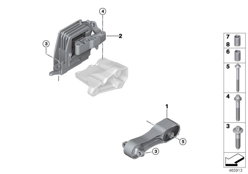 Engine Suspension BMW F54 clubman 58159