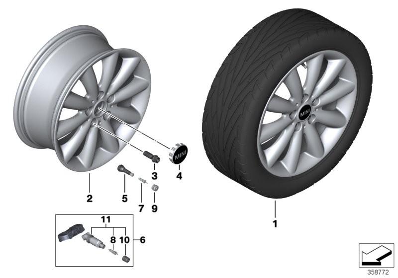 Mini La Wheel Cosmos Spoke 499 17 Bmw F56 3 Doors 56545