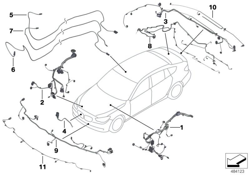 Repair cable main cable harness BMW F01 sedan 51262