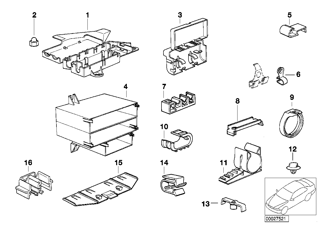 bmw various wiring connectors