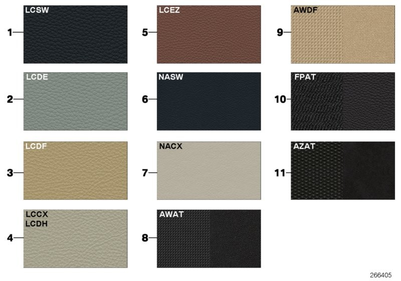 Sample Page Uphls Colours Leather Fabric Bmw F11 Touring 53608