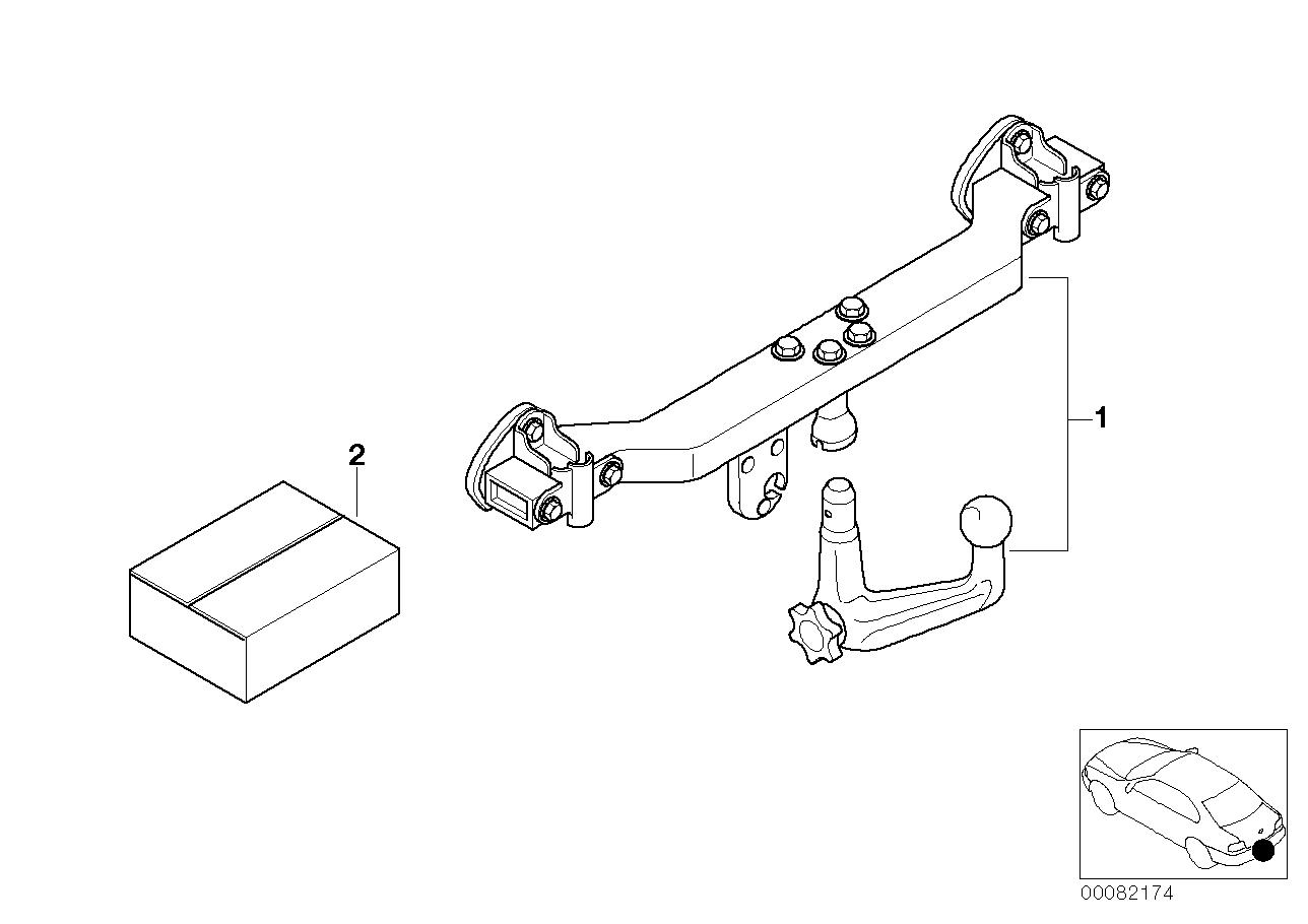 Retrofit Kit Towing Hitch Bmw E39 Touring 47557