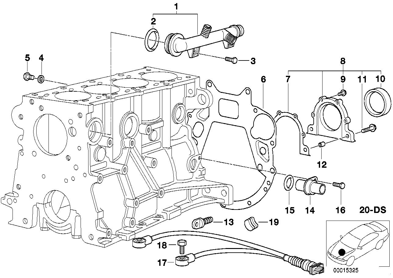 Engine block mounting parts BMW E46 sedan 47631