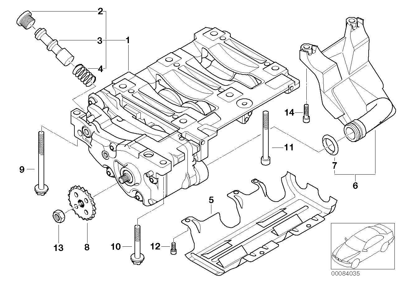 Oil pump and compensating shaft unit BMW E90 sedan 48481