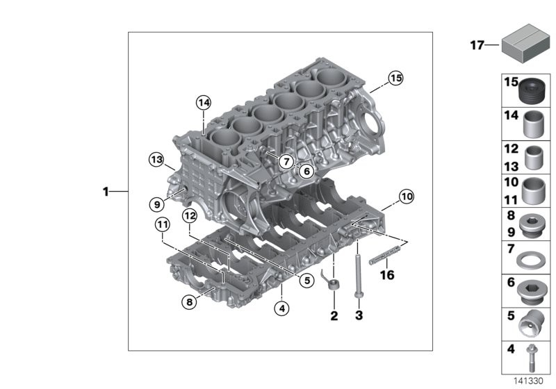 Engine block BMW F30 sedan 54113