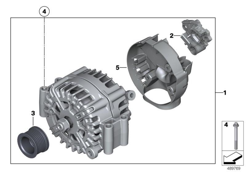 Alternator Bmw E71 Sac 51922