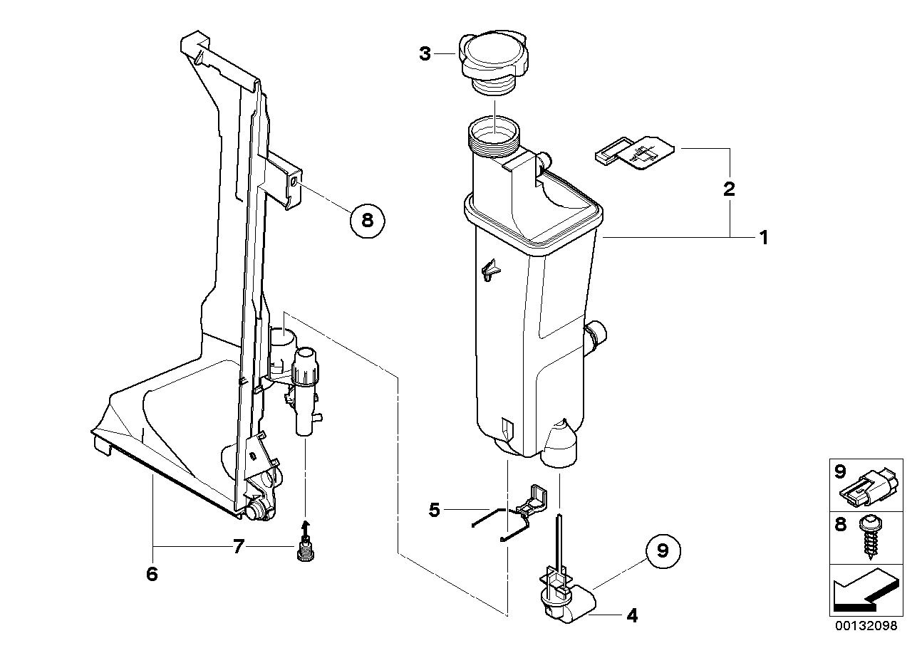 Expansion tank, manual gearbox BMW E83 SAV 47794