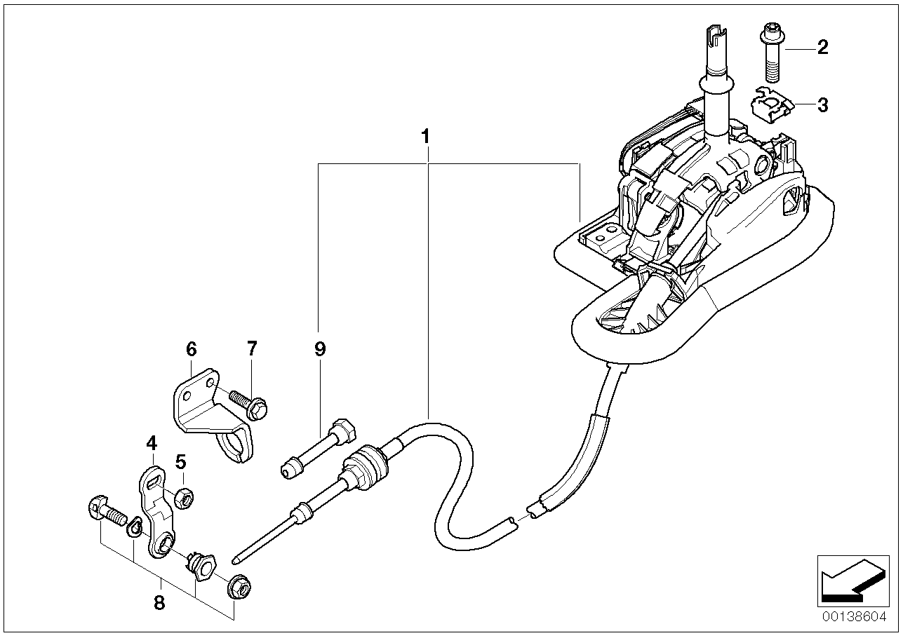 Autom.transmiss.steptronic shift parts BMW E46 coupe 47617