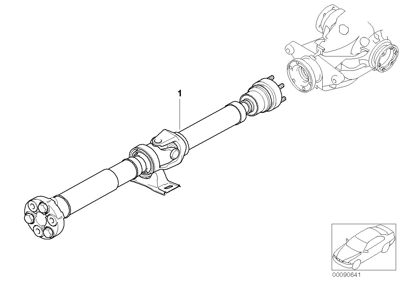 Drive shaft (constant-velocity joint) BMW E60 sedan 48140