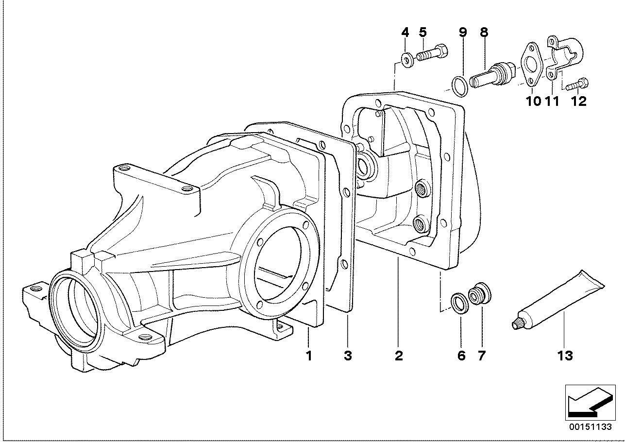 Final drive cover/trigger contact BMW E34 sedan 47370