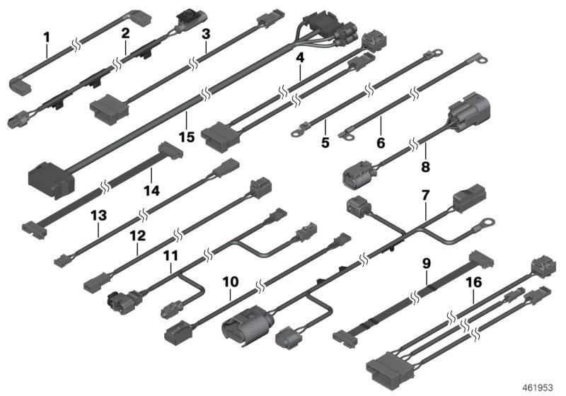 Various additional wiring sets BMW R60 countryman 58200