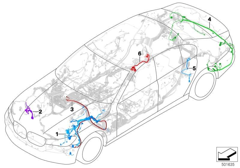 Scope of repair work main wiring harness BMW G12N sedan 60509