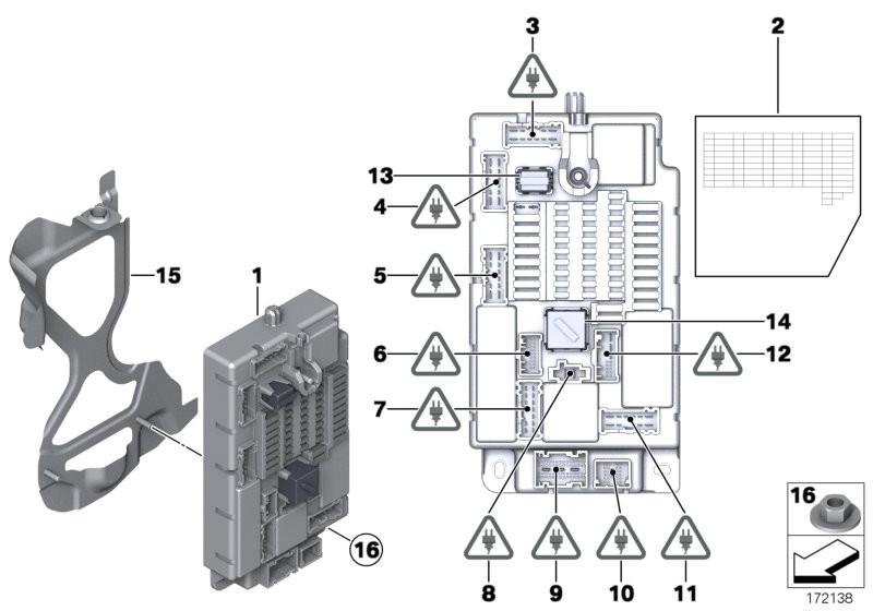 Control unit, fuse box SPEG BMW R56N 3-doors 58578