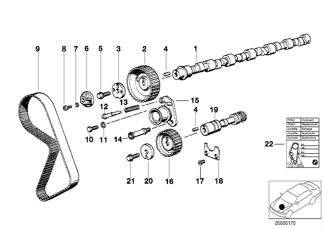 Timing+valve train-tooth belt/camshaft