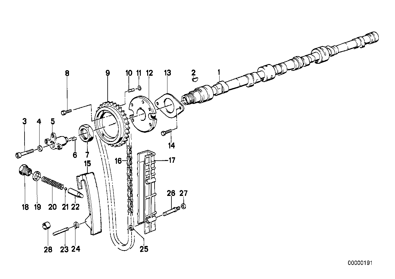 Timing-valve train-Timing chain/Camshaft