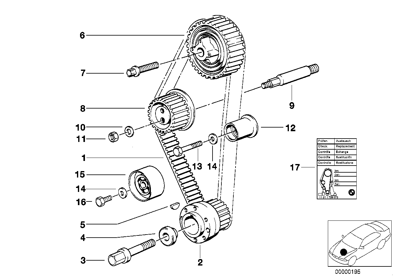 Timing and valve train-tooth belt