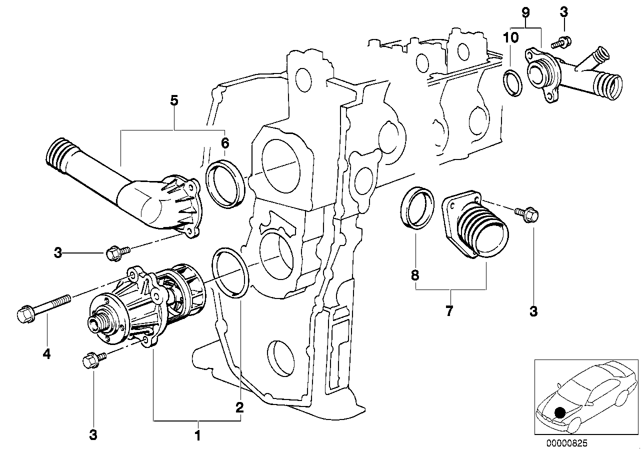 Engine BMW E36 sedan 47435