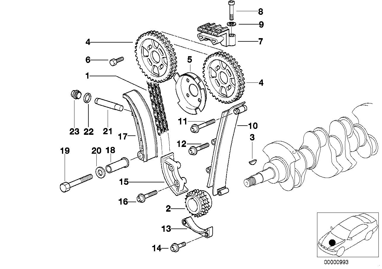 Timing and valve train-timing chain