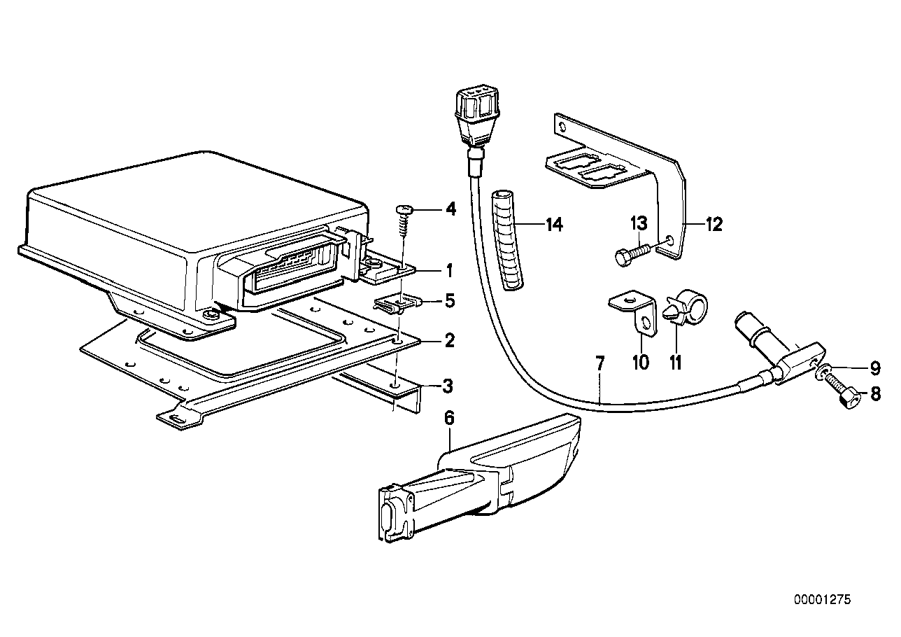 Pulse generator/DME mounting parts