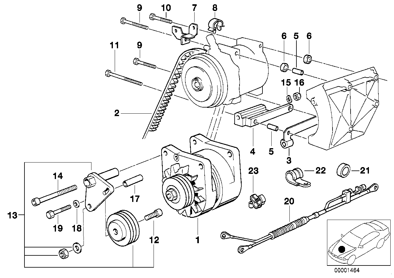 Additional alternator/mounting parts