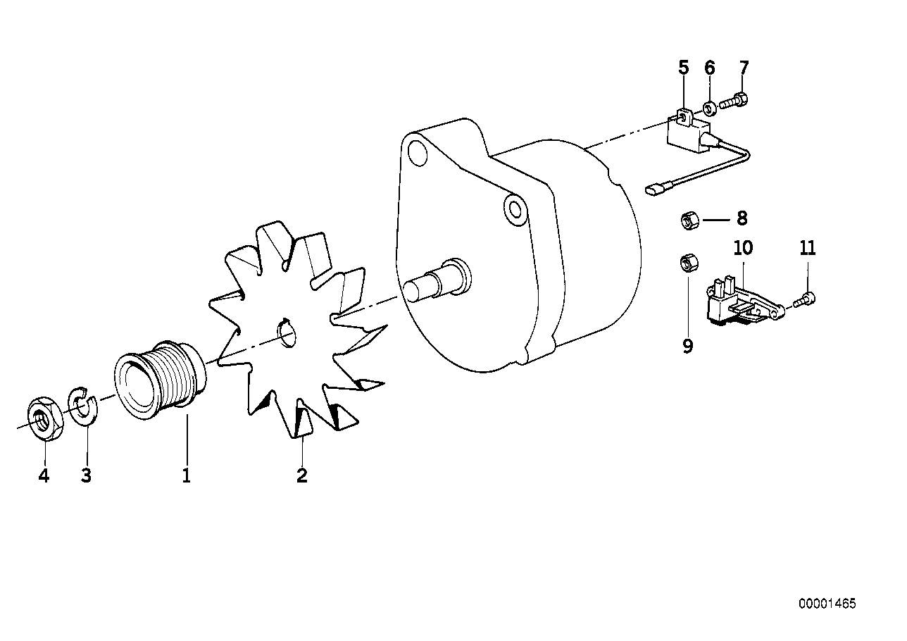 Additional alternator/single parts