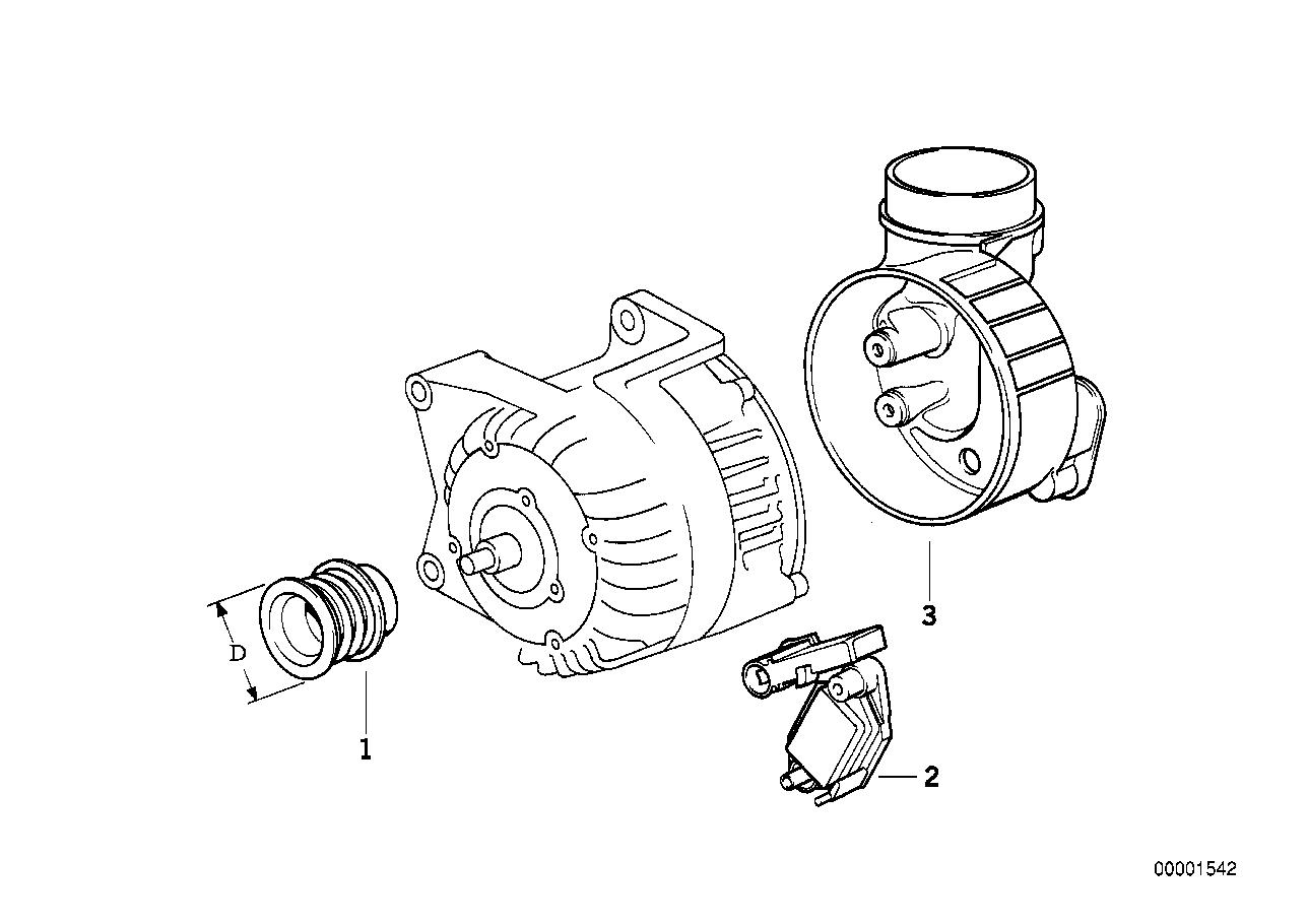 Engine Electrical System BMW E36 sedan 47449