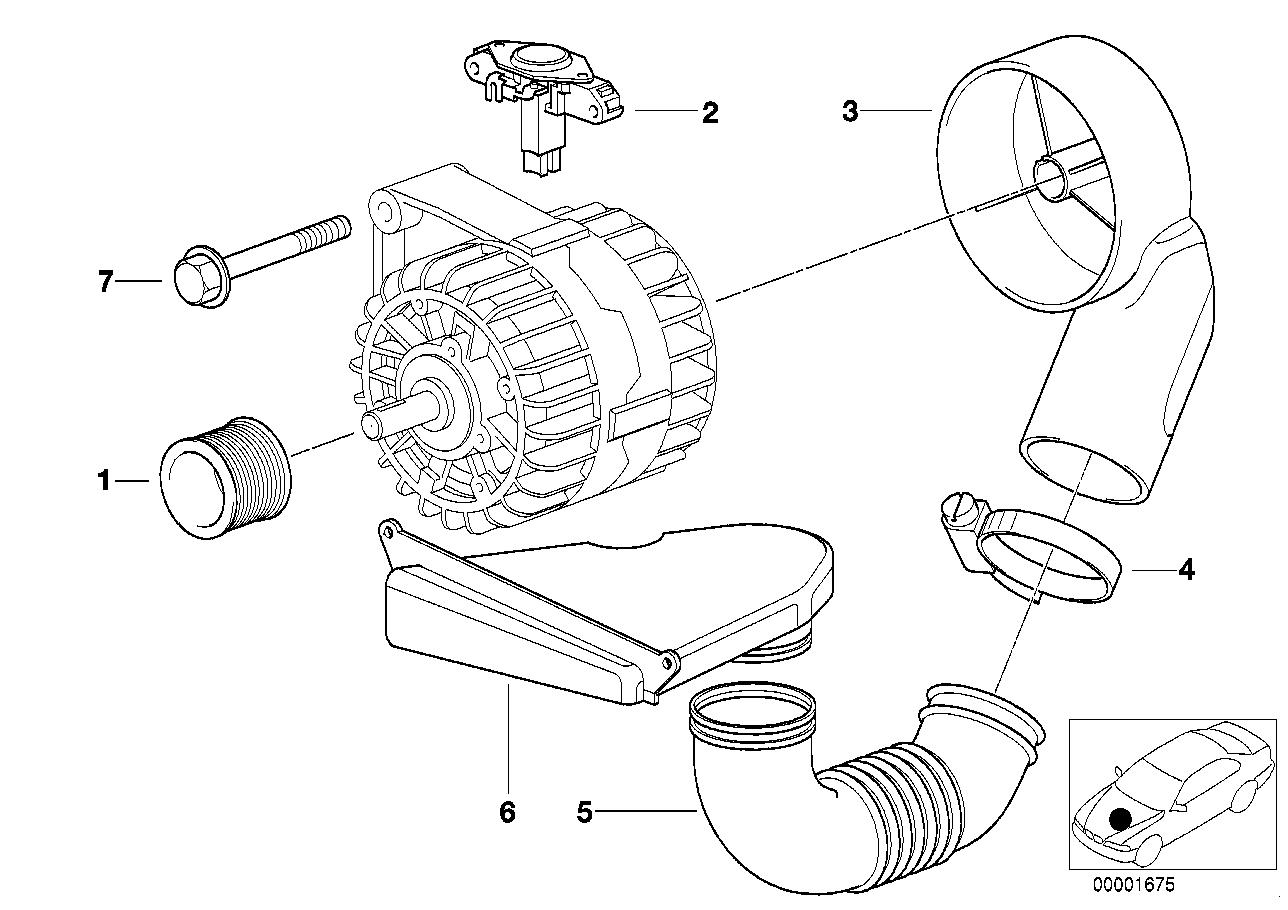 Engine Electrical System BMW E38 sedan 47517