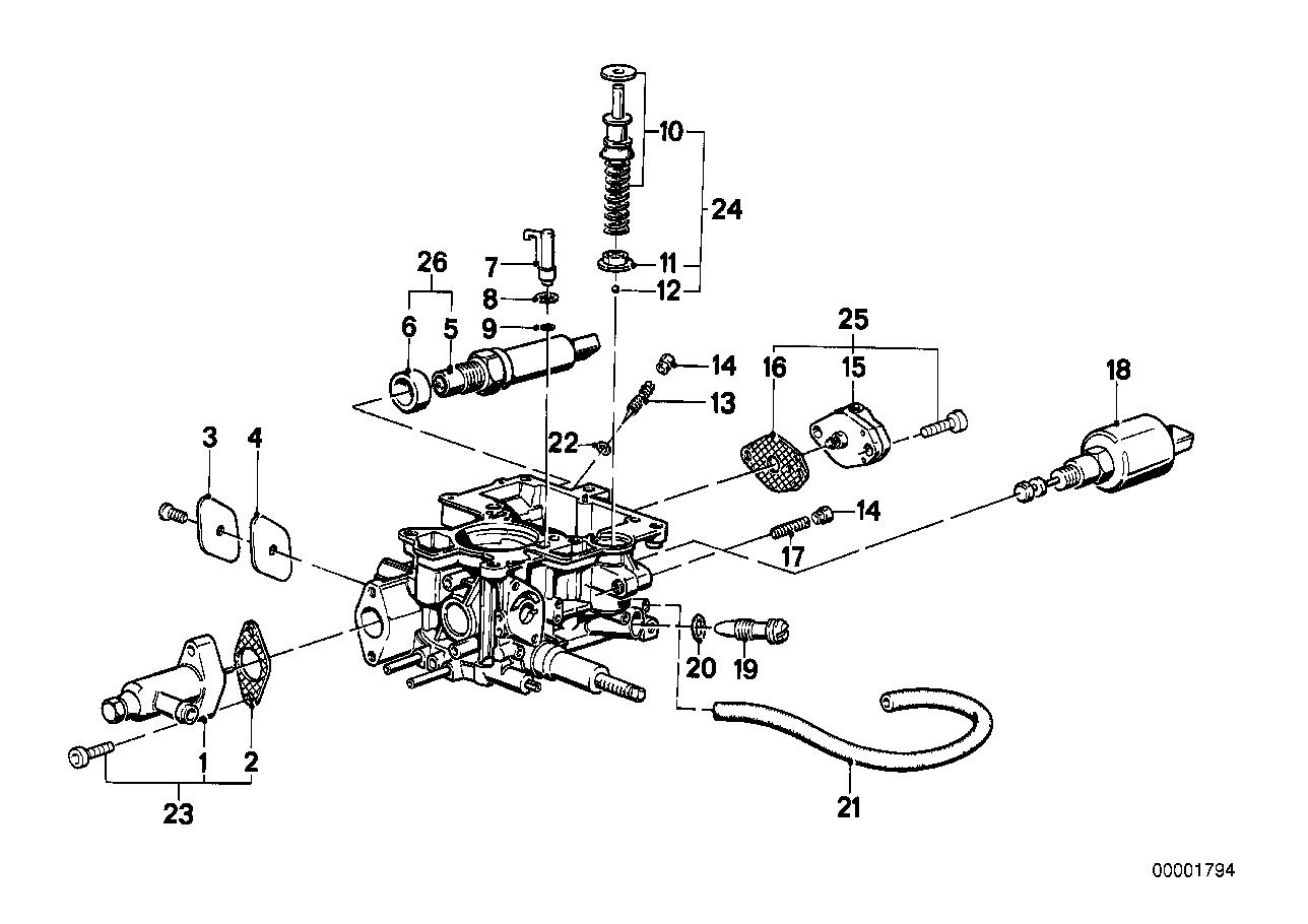 Preparação/regulação de combustível BMW E21 sedan/fechado