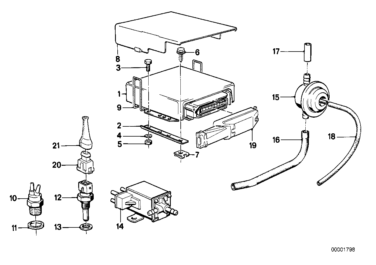 Control unit carburetor