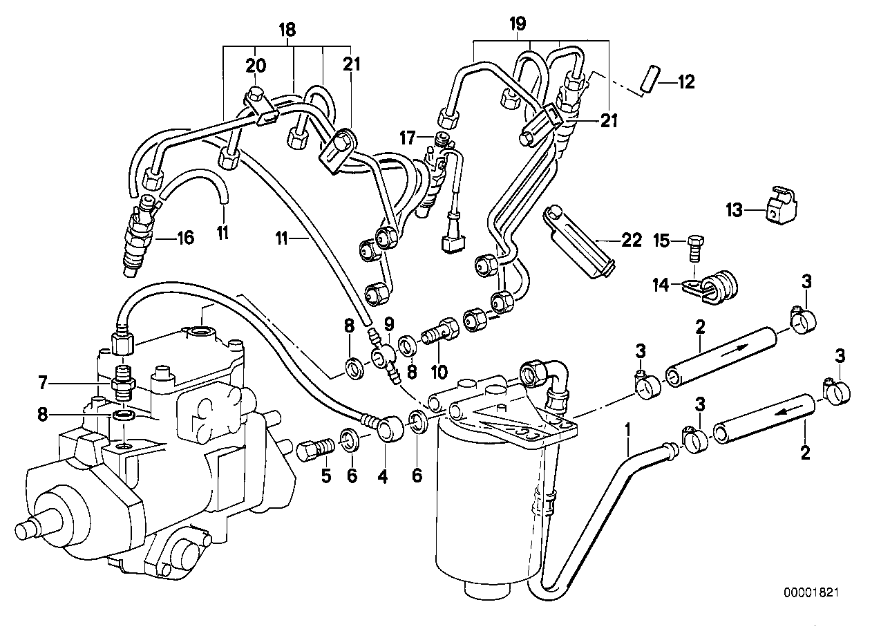 Nozzles/pipes of fuel injection system