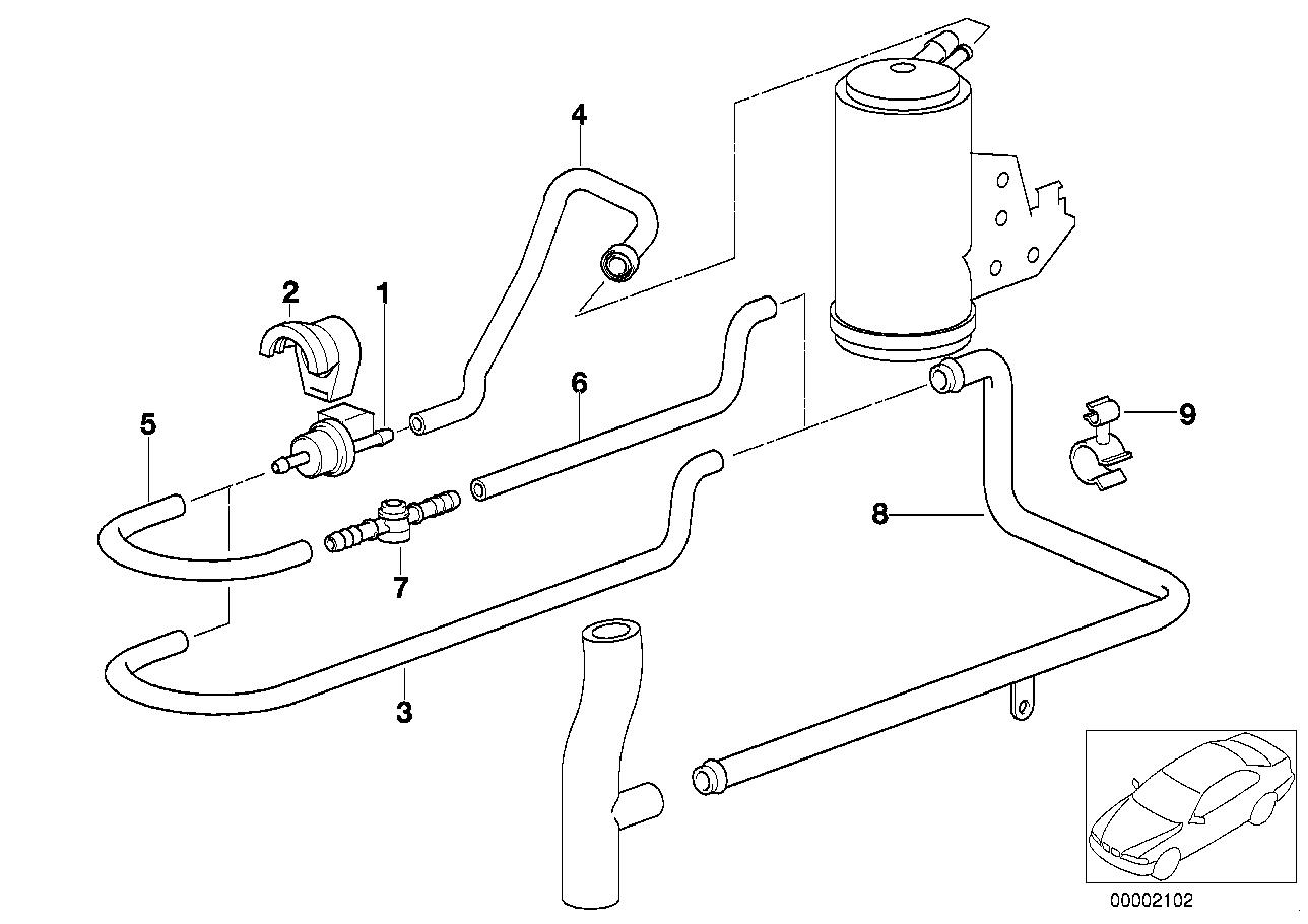 Fuel Preparation System BMW E36 sedan 47449