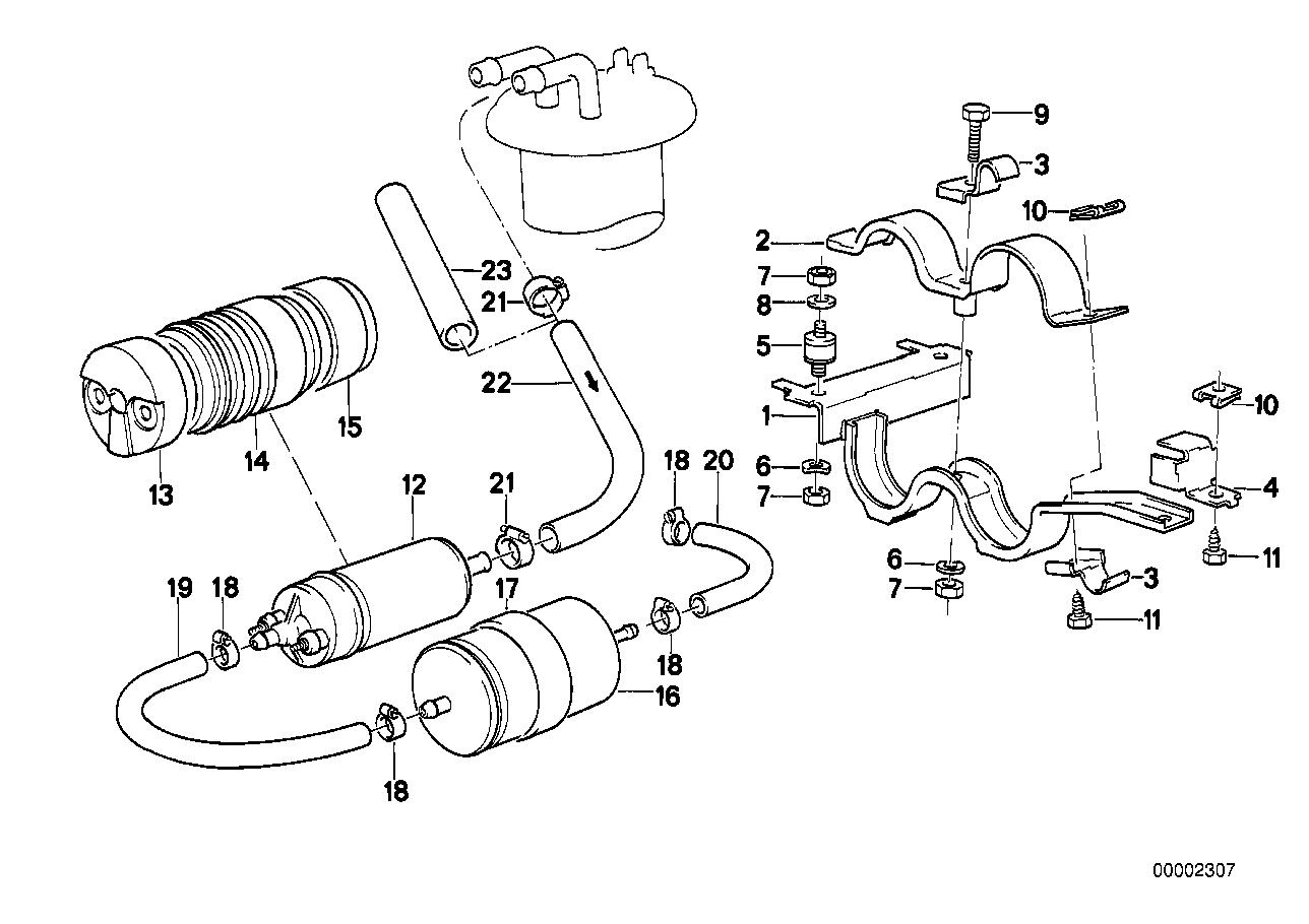 Fuel Supply BMW E24 coupe 47199