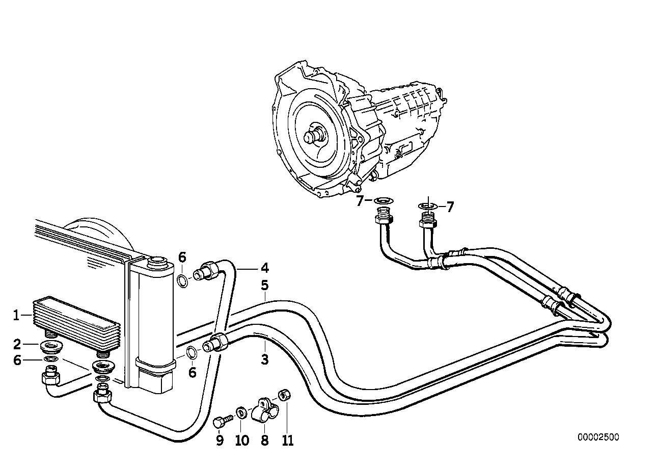 Transmission oil cooling
