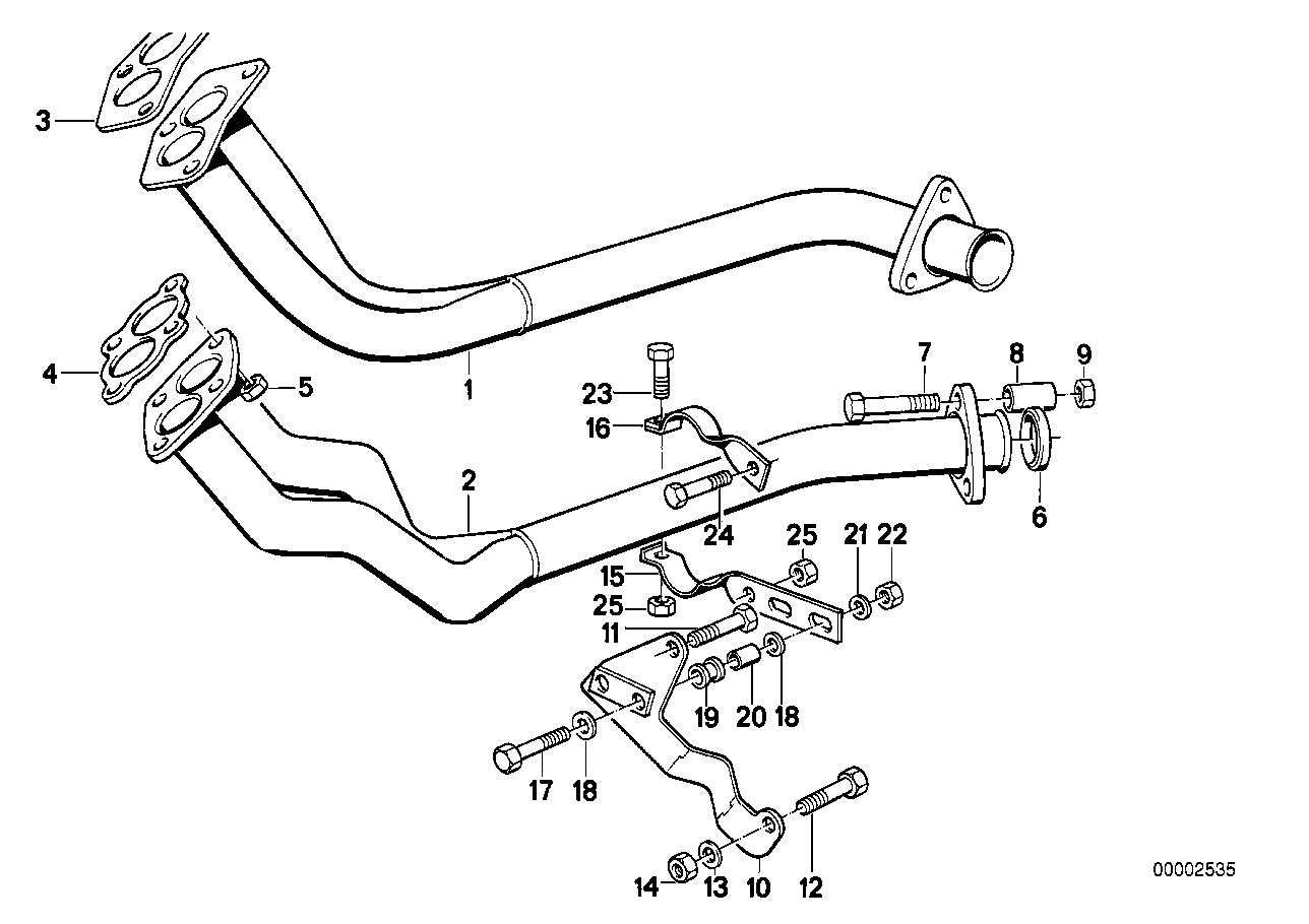 Système d'échappement BMW E21 sedan 47166