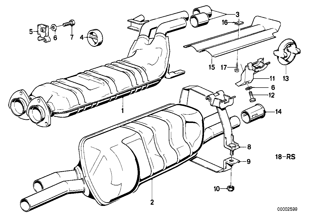 Exhaust assy without catalyst