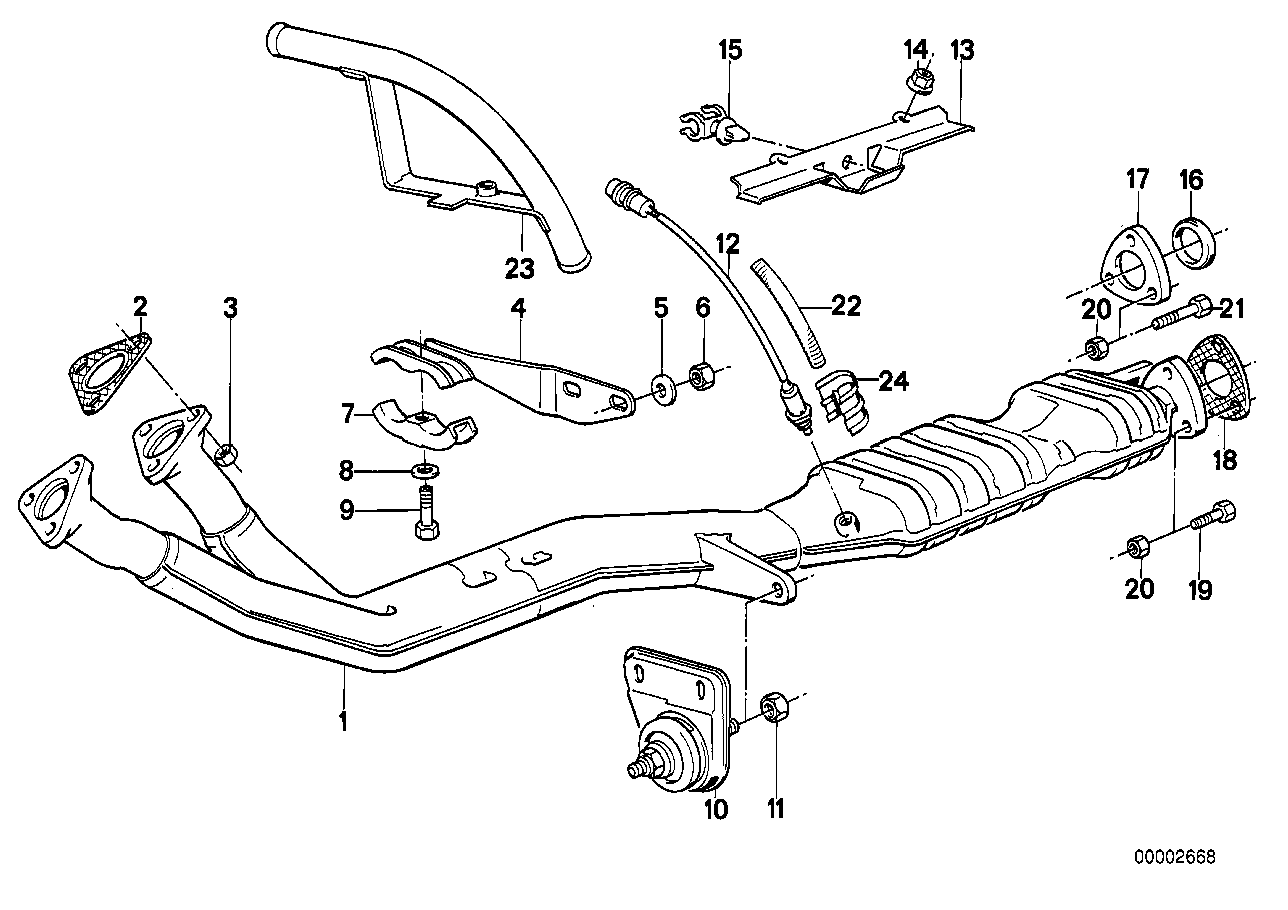 Exhaust pipe, catalytic converter