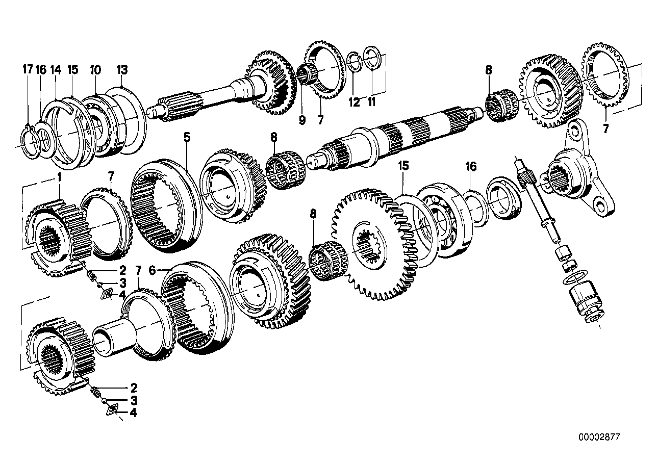 Getrag 262 gear wheel set,single parts