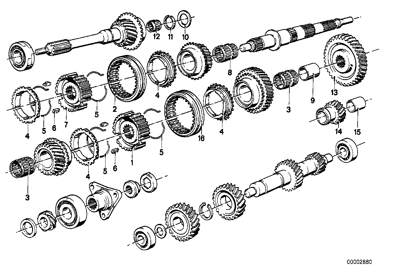 Getrag 242 gear wheel set,single parts