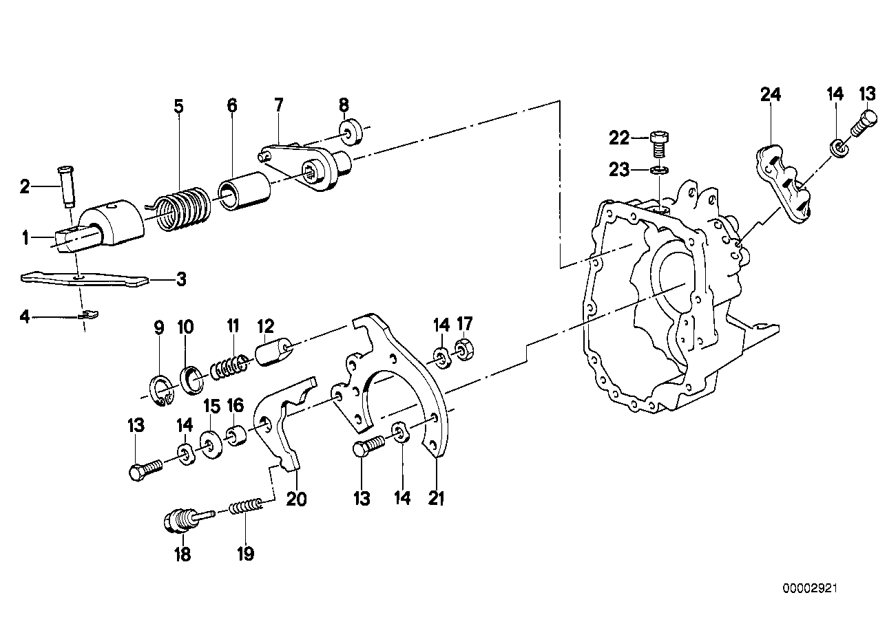 Getrag 280 inner gear shifting parts