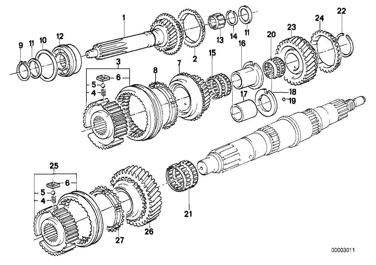 Caixa de velocidades manual BMW E30 conversível 47290
