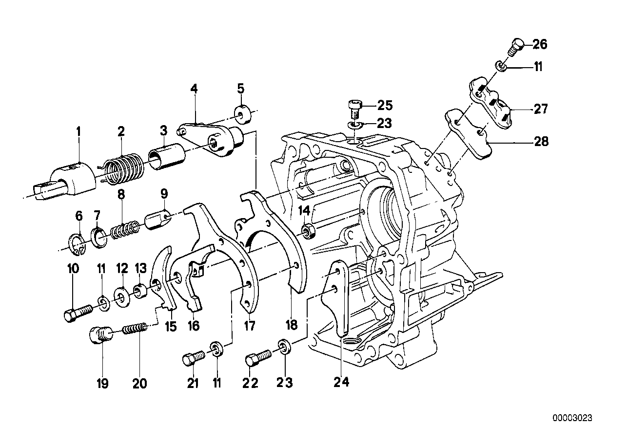 Getrag 260/5/50 inner gear shift parts