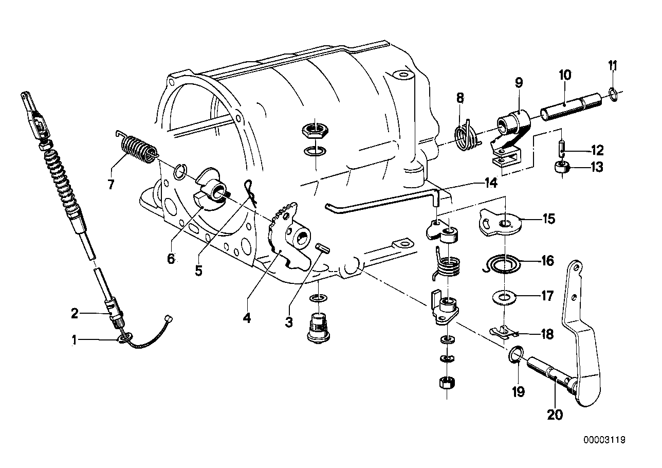 ZF 3hp12 gear shift/parking lock