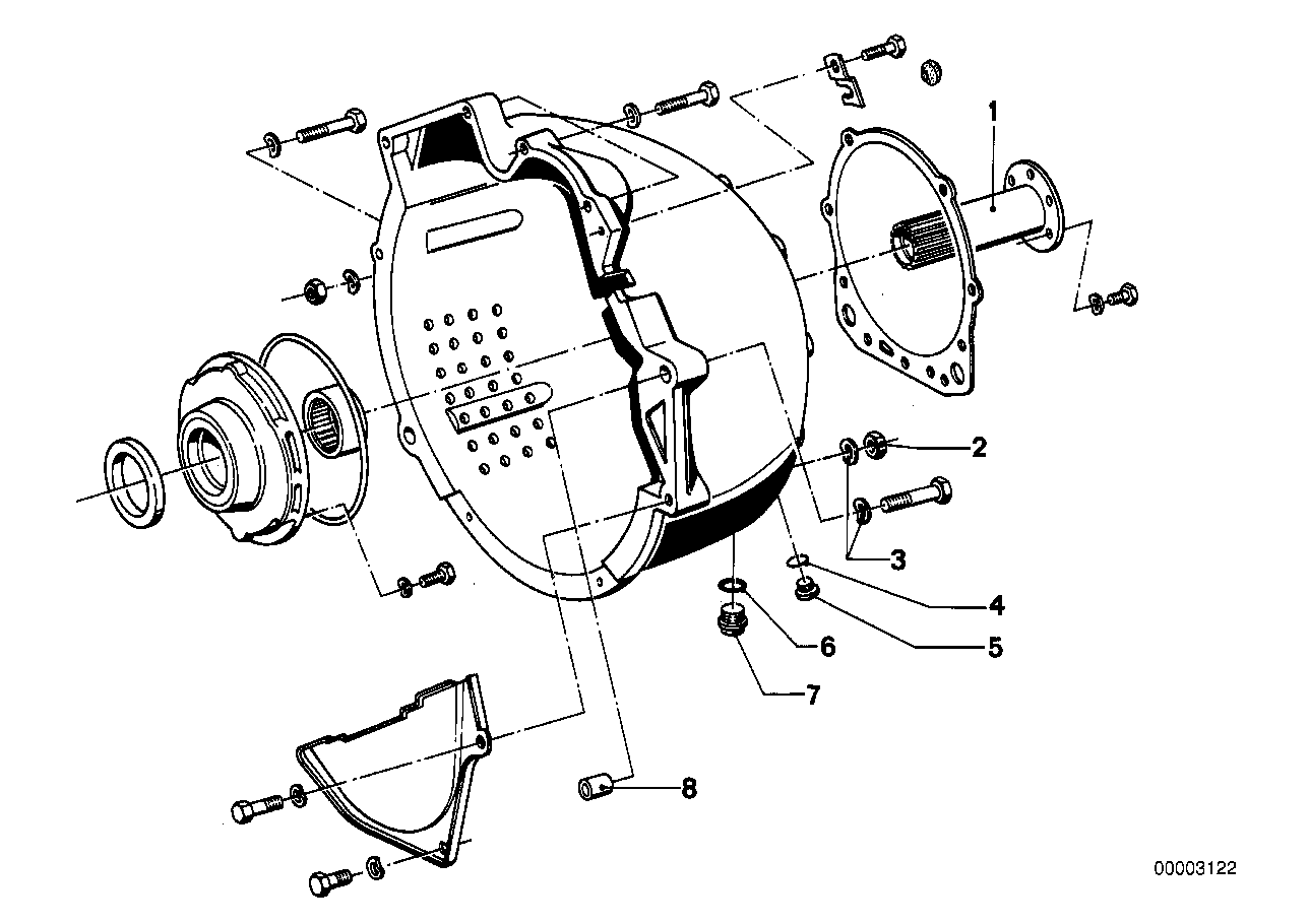 ZF 3hp20 mounting parts