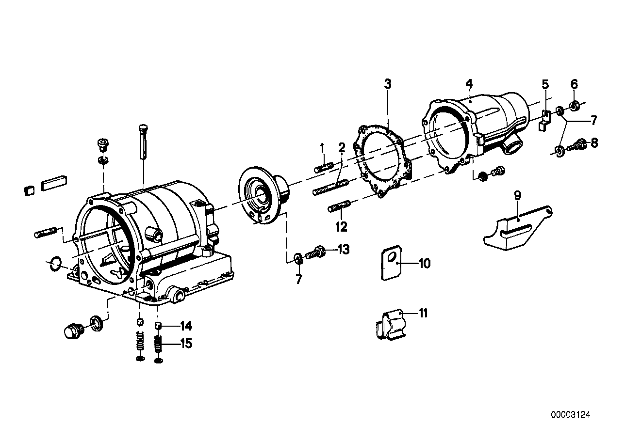 ZF 3hp20 drive extension