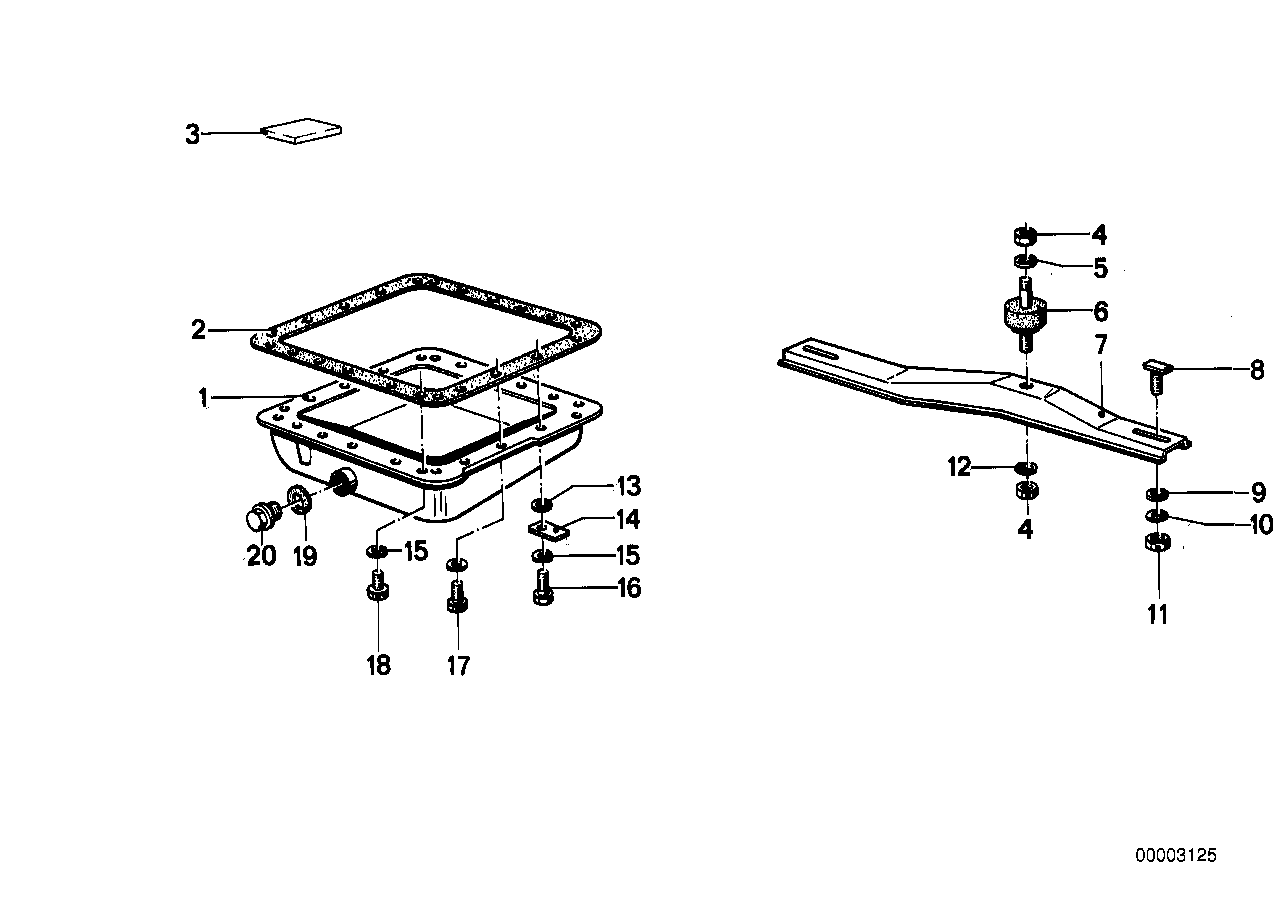 ZF 3hp20 suspension/oil pan