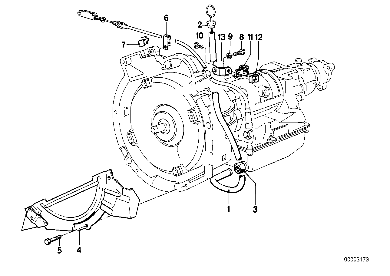 Transmission mounting parts