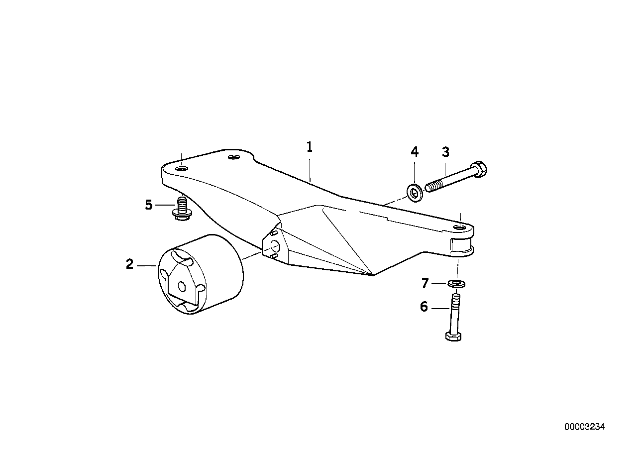 Gearbox suspension/mounting