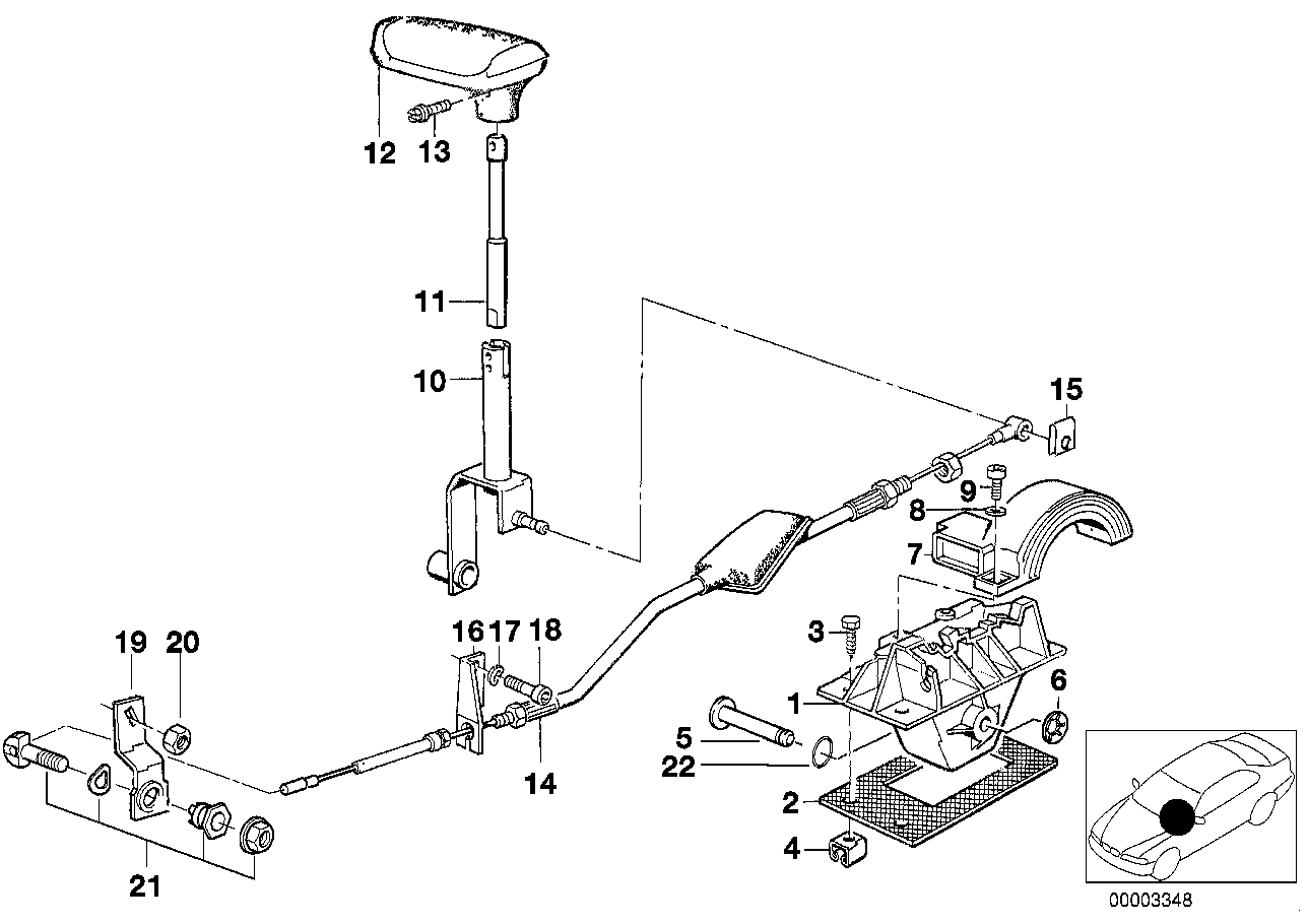 Gear shift parts, automatic gearbox