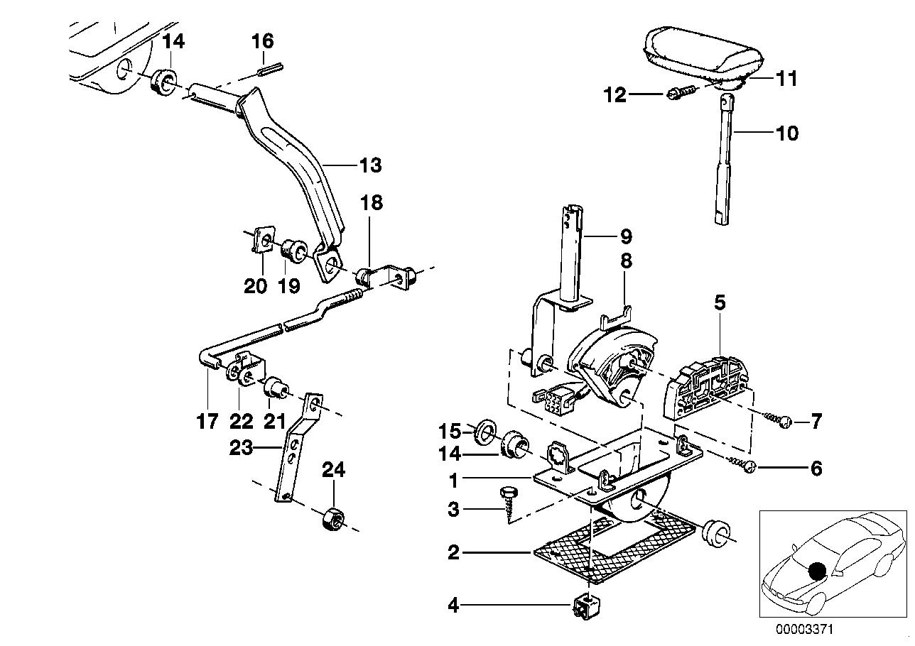 Mecanismo das mudanças BMW E30 4-portas 47270