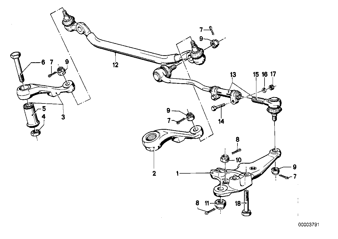 Steering linkage/tie rods